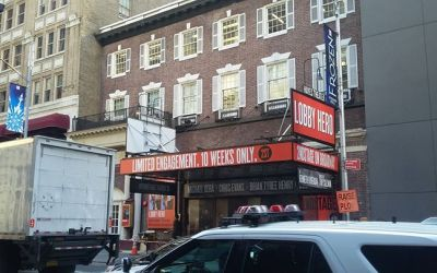 ON THE MARQUEE: Get a look at the outside of Broadway's newly renovated Helen Hayes T