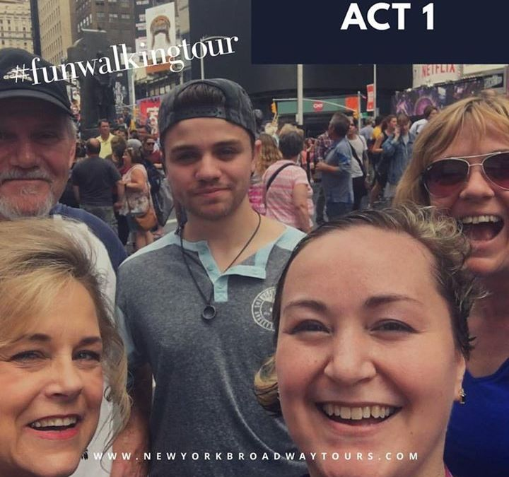 Our friends from Indiana and the UK enjoyed our  #ACT1  #MusicalTheatreWalkingTour
