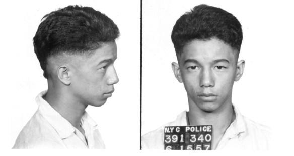 mugshot of unknown defendant in Michael Farmer murder 1957