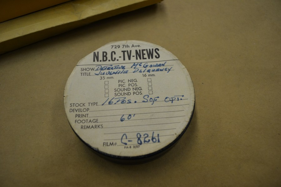 Reel (TV?) found in an archive in regards to a gang homicide between the Mau Maus and Sand Street Angels, two Brooklyn gangs.