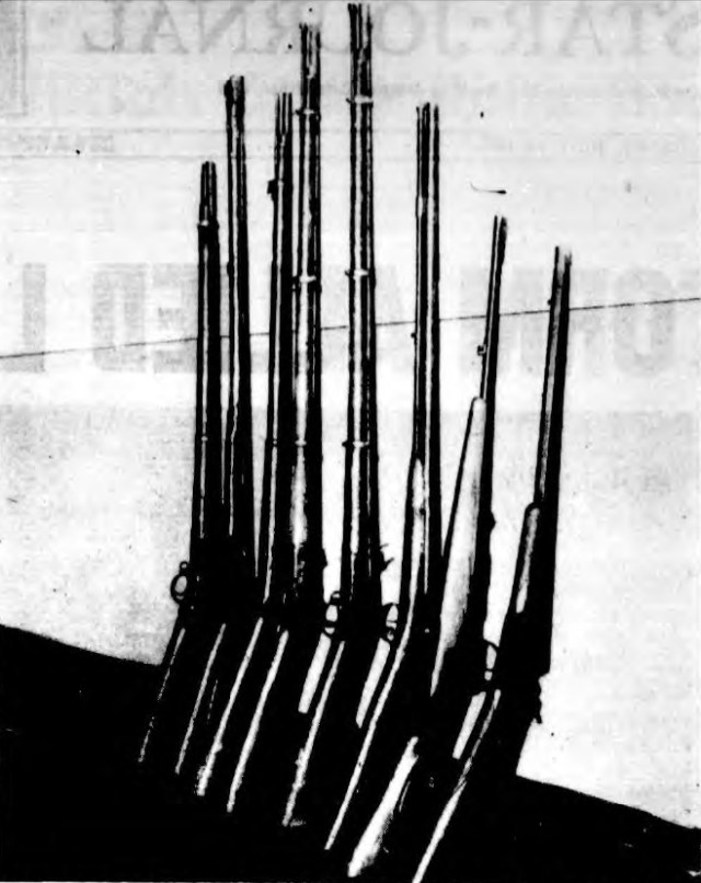 The father of a South Jamaican gang member, who was a gun collector, voluntarily gave these seven rifles that he owned to the police in the drive to get guns off the street. He did this so the police could check ballistics; if clean, the police would return them. The police said there was no evidence that the gang members had access to these guns.