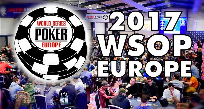 2017 World Series of Poker Europe Schedule Released