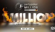 Partypoker MILLION Germany Kicks Off June 1 at King's Casino in Rozvadov