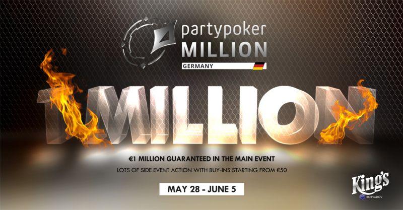 Partypoker MILLION Germany Kicks Off June 1 at King's Casino in Rozvadov