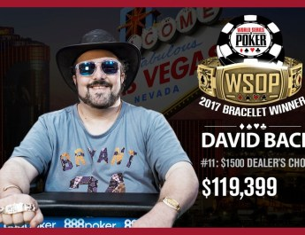 David Bach Wins 2017 World Series of Poker $1,500 Dealer's Choice Event