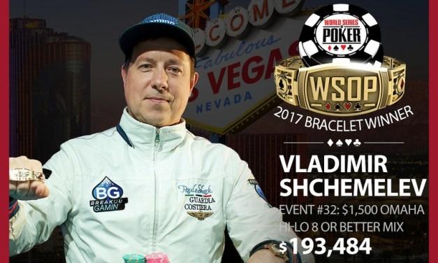 Vladimir Shchemelev Wins 2017 World Series of Poker Omaha Eight-Or-Better Mix Event