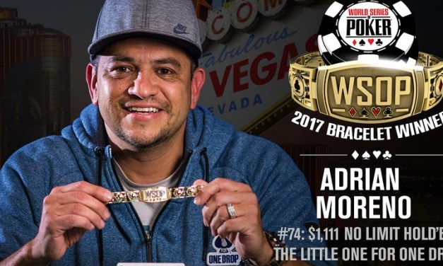 Adrian Moreno Wins 2017 World Series of Poker $1,111 Little One For One Drop