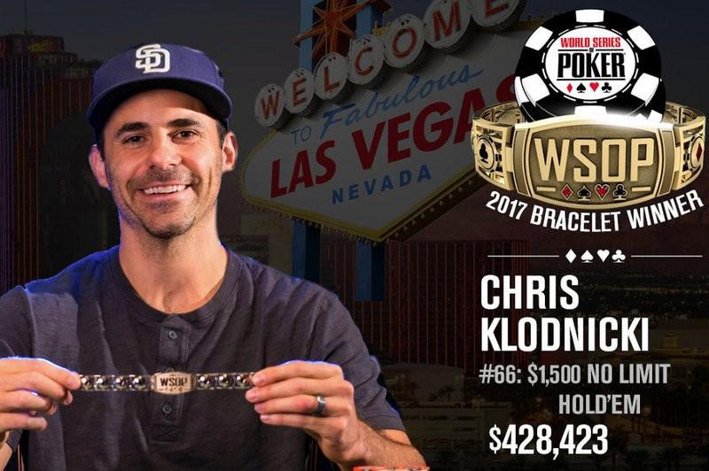 Chris Klodnicki Wins 2017 WSOP $1,500 No-Limit Hold'em