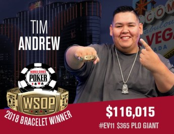 Tim Andrew Wins 2018 World Series of Poker $365 PLO Giant Event