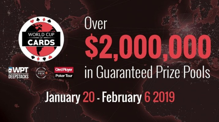 The World Cup Of Cards Returns To Playground Poker Club In January of 2019
