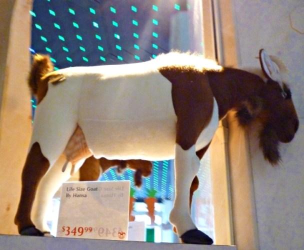 FAO Schwarz life size goat