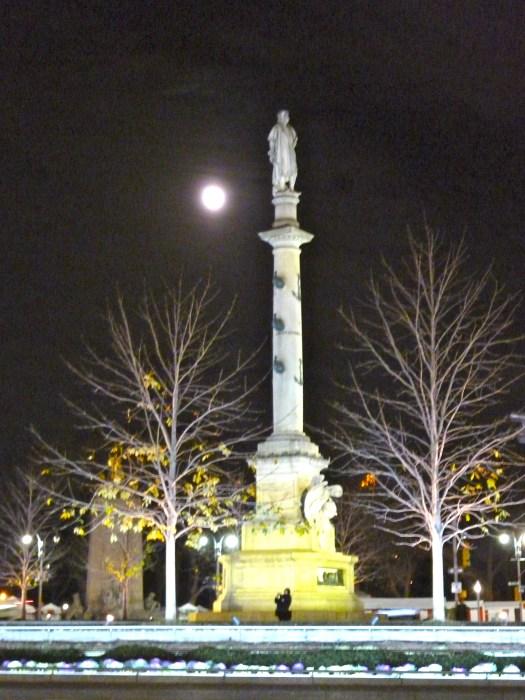 columbus circle moon