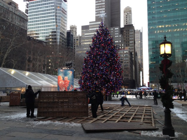 bryant park end of christmas