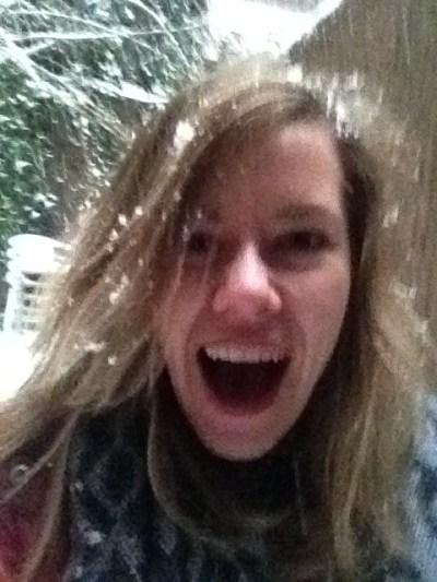 post snow angel selfie