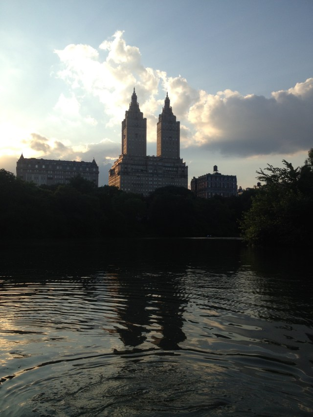 Boating in Central Park views