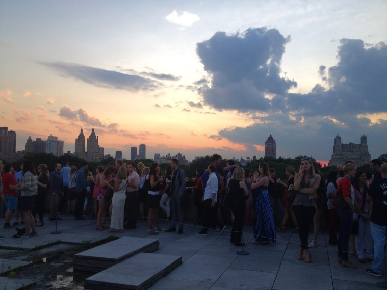 met rooftop sunset