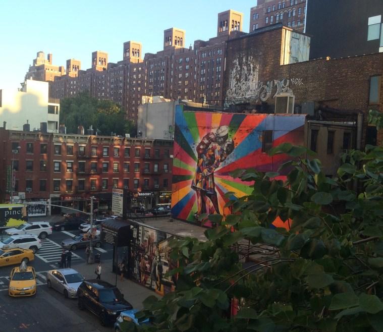 High Line Kiss Mural Korba