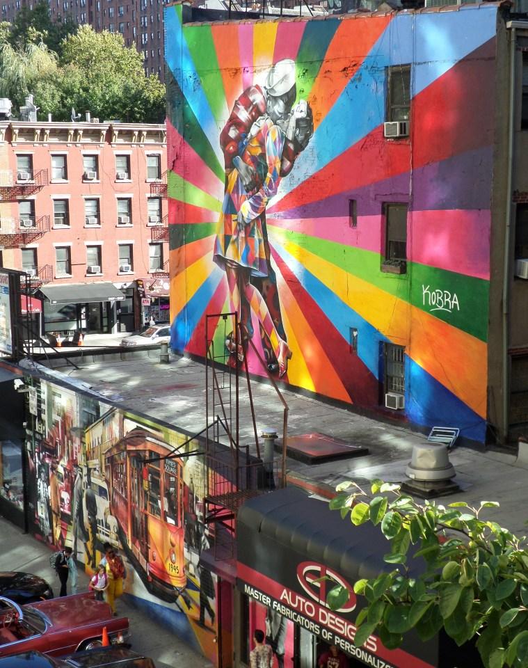korma kiss mural high line