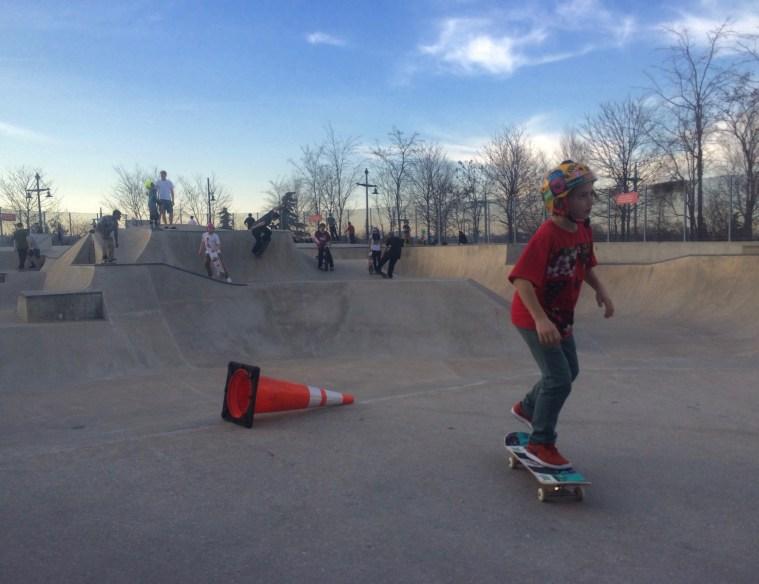 skateboarding chelsea piers