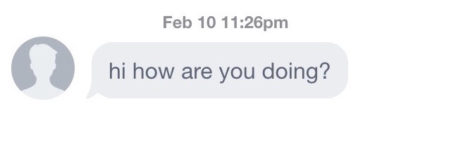 responses to online dating messages