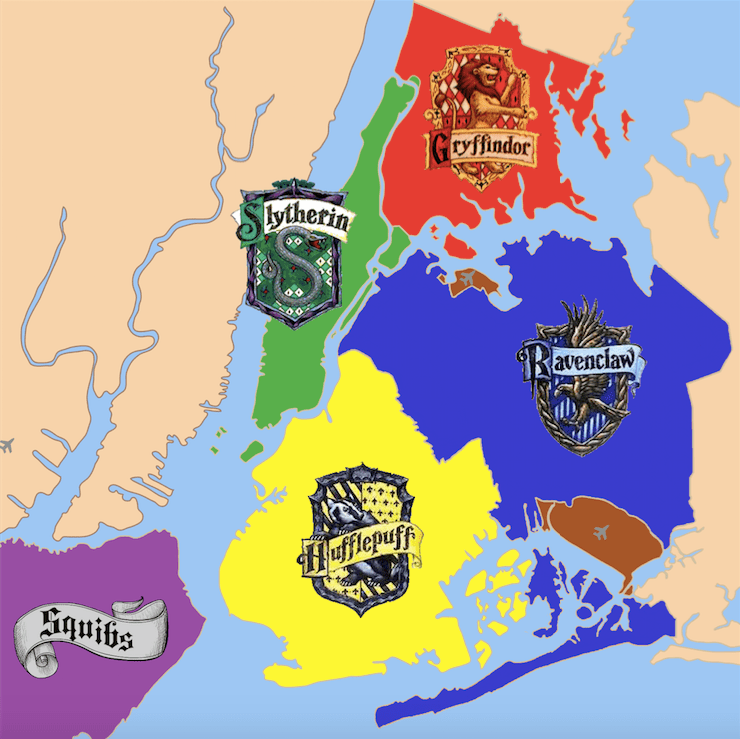 NYC hogwarts houses harry potter