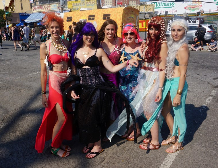 coney island mermaid parade ladies