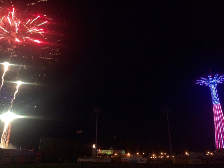 coney island cyclones fireworks