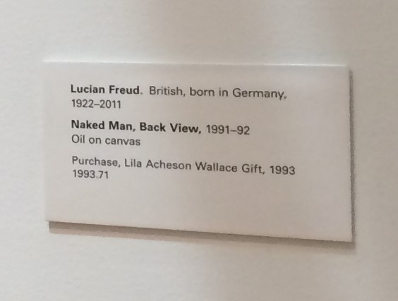 lucian freud plaque museum hack