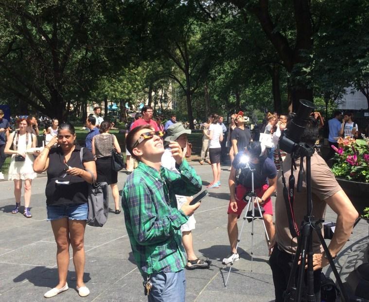 solar eclipse madison square park