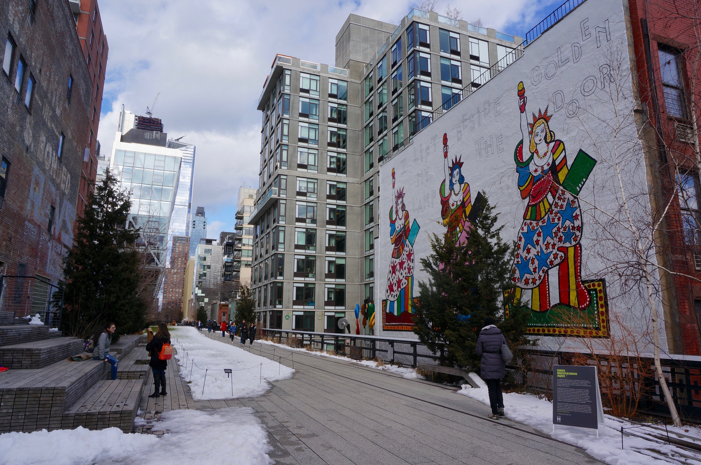 Street Art Saturday: I Lift My Lamp Beside The Golden Door On The High Line