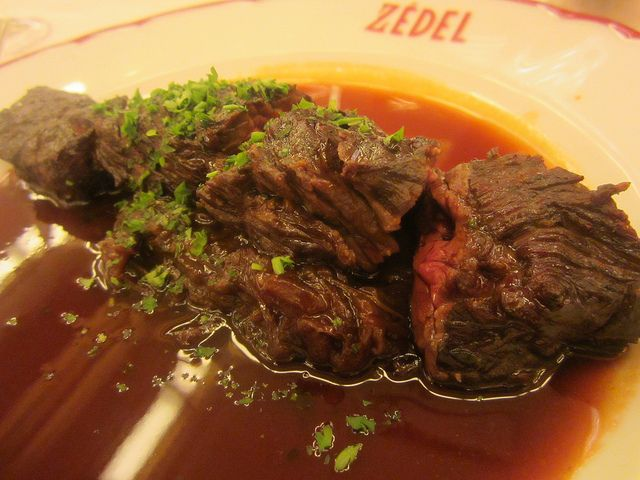 Onglet Steak at Brasserie Zedel