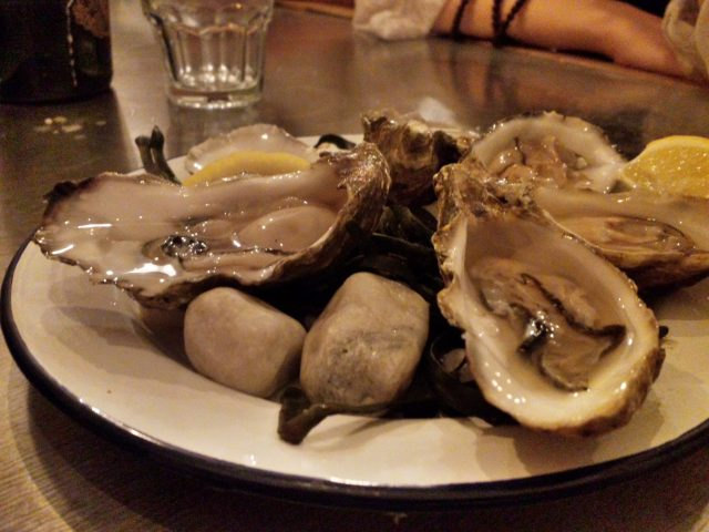 Oysters at Mussel Men - New Yorker Meets London
