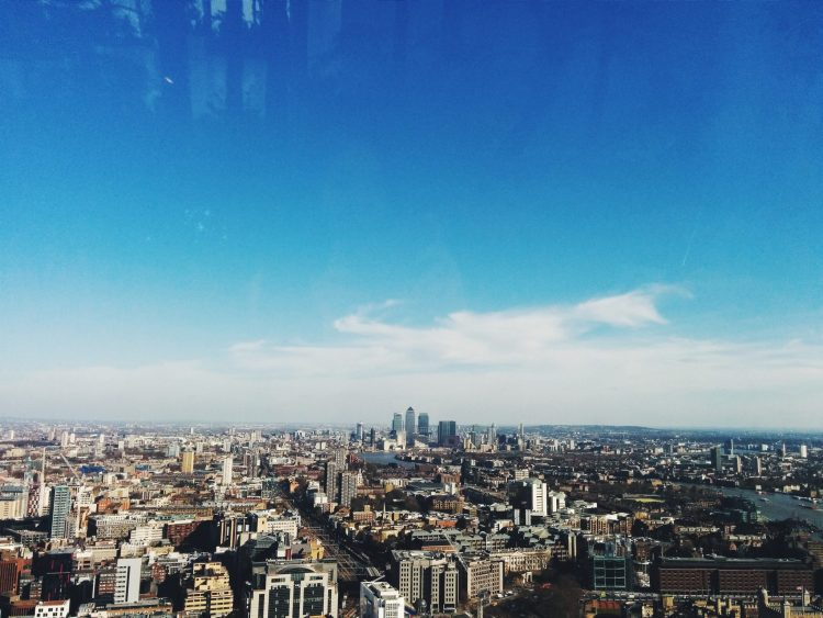 View from Sky Gardens 20 Fenchurch Street
