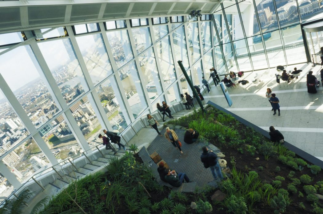 View from the top of Sky Garden 20 Fenchurch Street