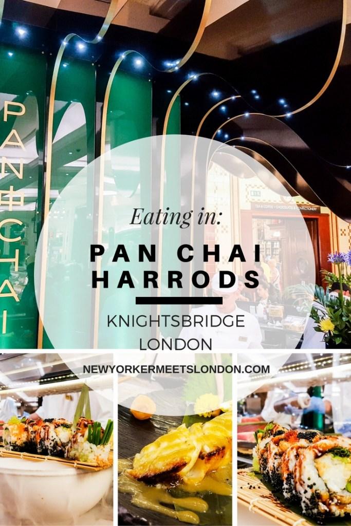 Sushi in London at Pan Chai Harrods
