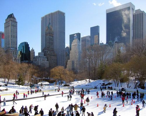Central Park Ice Skating Wollman Rink NYC