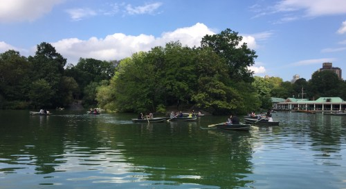 The Lake boating in Central Park