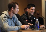 Djoko and Murray Press conference 150x105 BNP Paribas Showdown: Racketeering Permitted