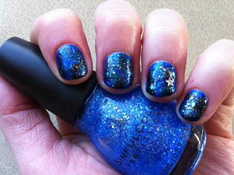 March Manicure Madness, Day Four: Starry, Starry Night (1/5)