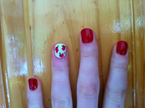 March Manicure Madness, Day Nine: Snow White, Rose Red (6/6)