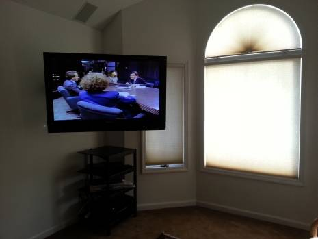 Large screen TV to prepare for deposition in a motorcycle accident case