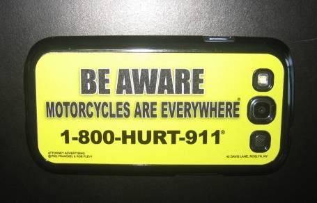 motorcycle awareness smartphone cover