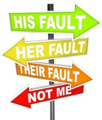 No Fault signs on sign post