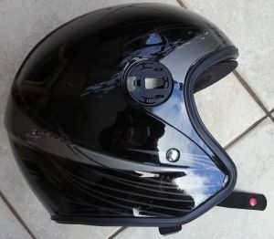 helmet scraped on road in motorcycle accident