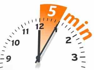 5-minutes grace period