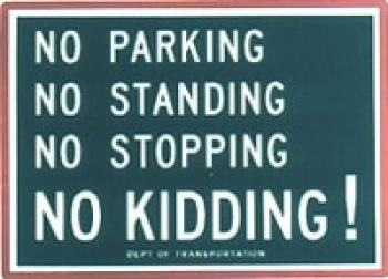 NYC parking sign