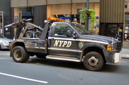 This image is a police tow truck