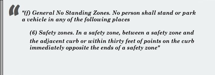This is a quotation of the definition of safety zone in NYC