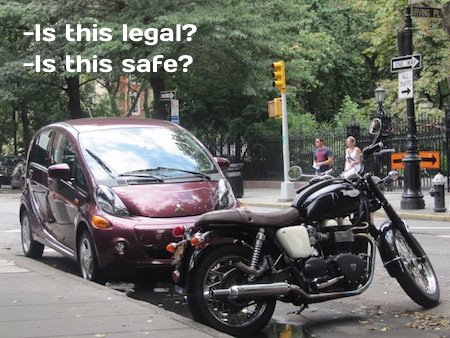 Is it legal to park a motorcycle here?