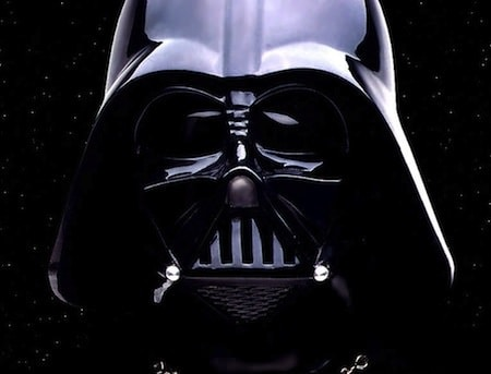 Darth Vader mask represents the Evil Empire's fight against scofflaws